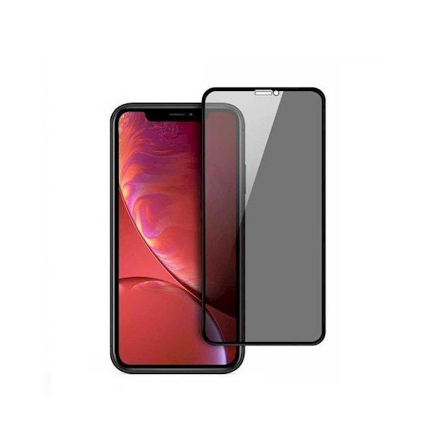 Qoruyucu şüşə reen 3D Privacy Glass Screen Protector Apple iPhone 12 Pro Max üçün Black