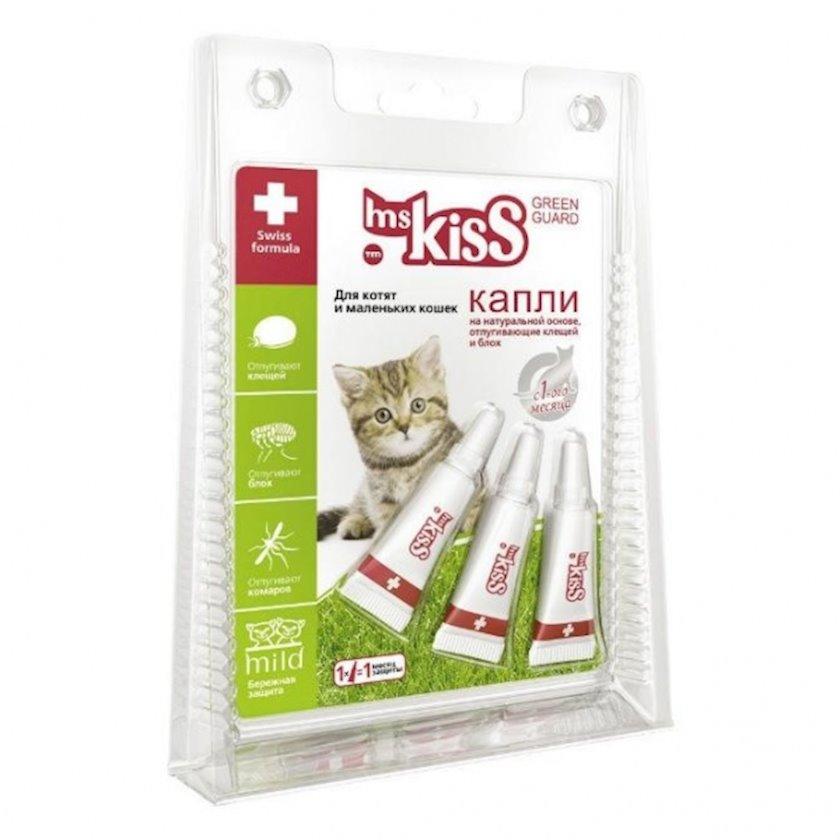 Damcı Miss Kiss xırda pişiklər və pişik balaları üçün, xarici parazitlərə qarşı repellent, 1 ml, 3 əd
