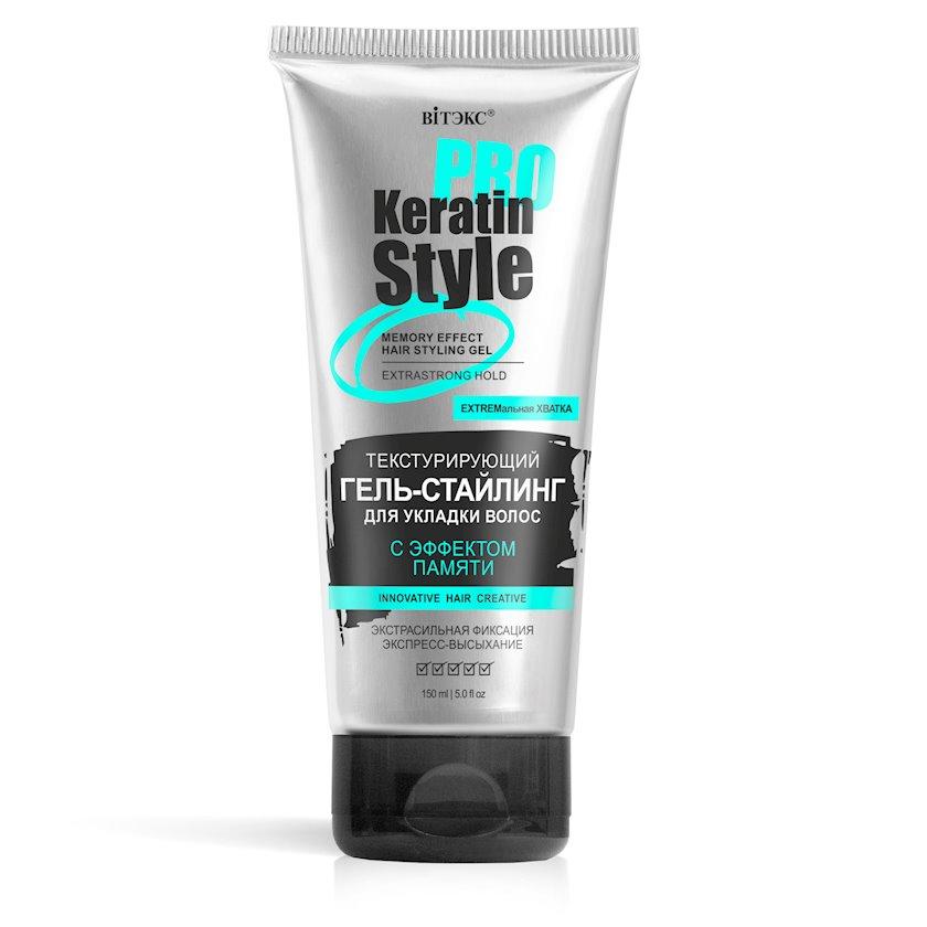Gel-staylinq buruqlar üçün Витэкс Keratin Pro Style Yaddaş effekti ilə 150 ml