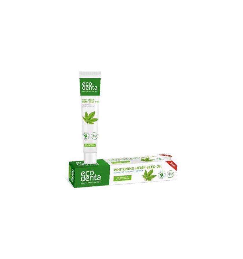 Diş məcunu çətənə yağı ilə  Ecodenta Whitening Hemp Seed Oil Toothpaste 75 ml