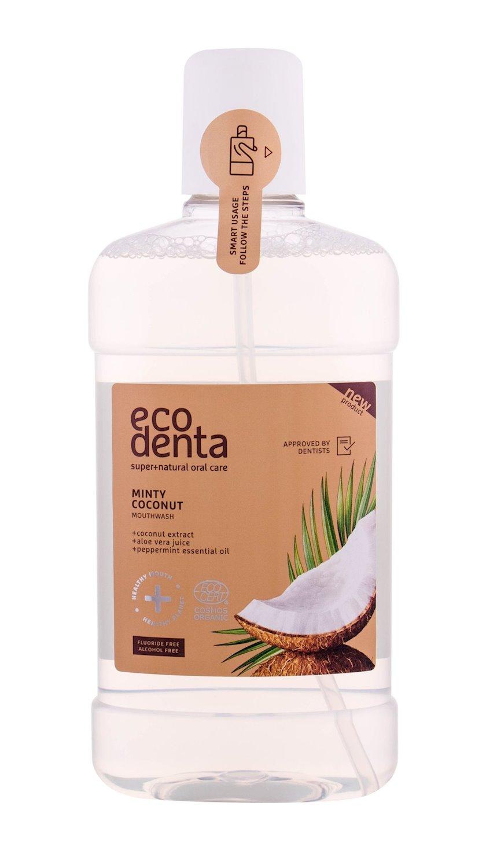 Ağız boşluğu üçün yaxalayıcı kokos dadı ilə Ecodenta Certified Organic Minty Coconut 500 ml