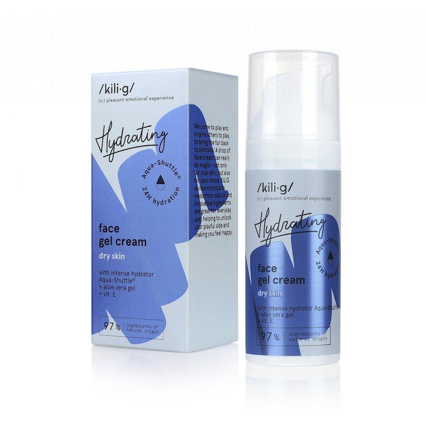 Intensiv nəmləndirici krem-gel üz üçün Kilig Hydrating Intensively Facial Gel Cream For Dry Skin 50 ml