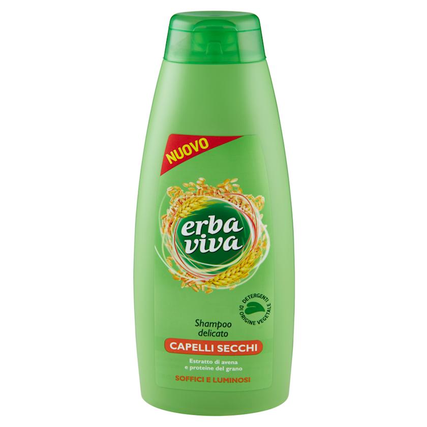 Şampun Erba Viva Capelli Secchi quru saçlar üçün yulaf ekstraktı və buğda zülalları ilə, 500 ml