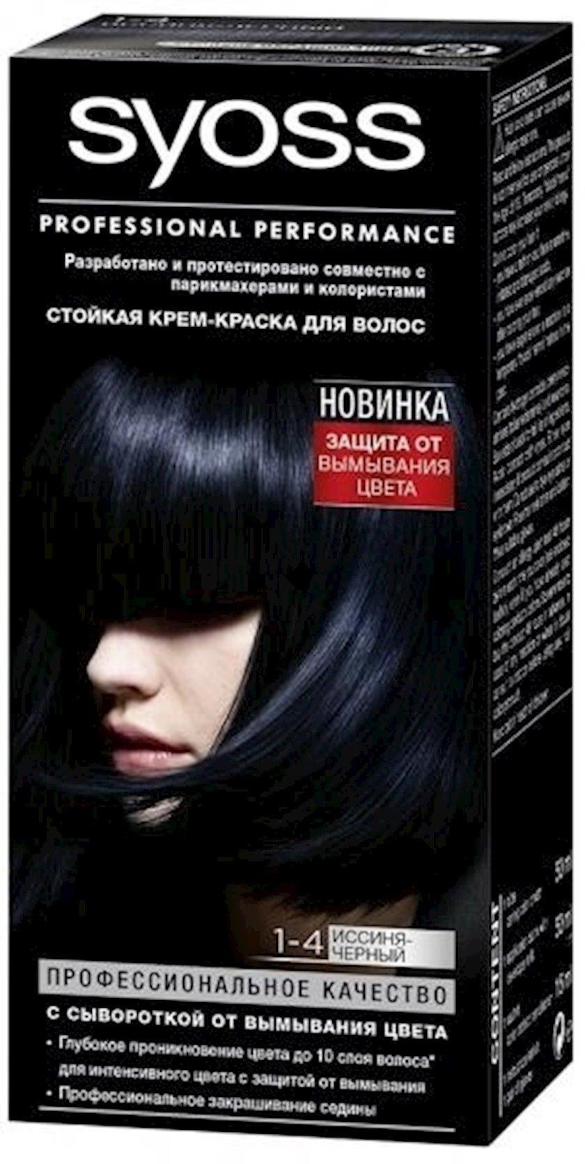 Saç boyası Syoss 1-4 Göy-qara