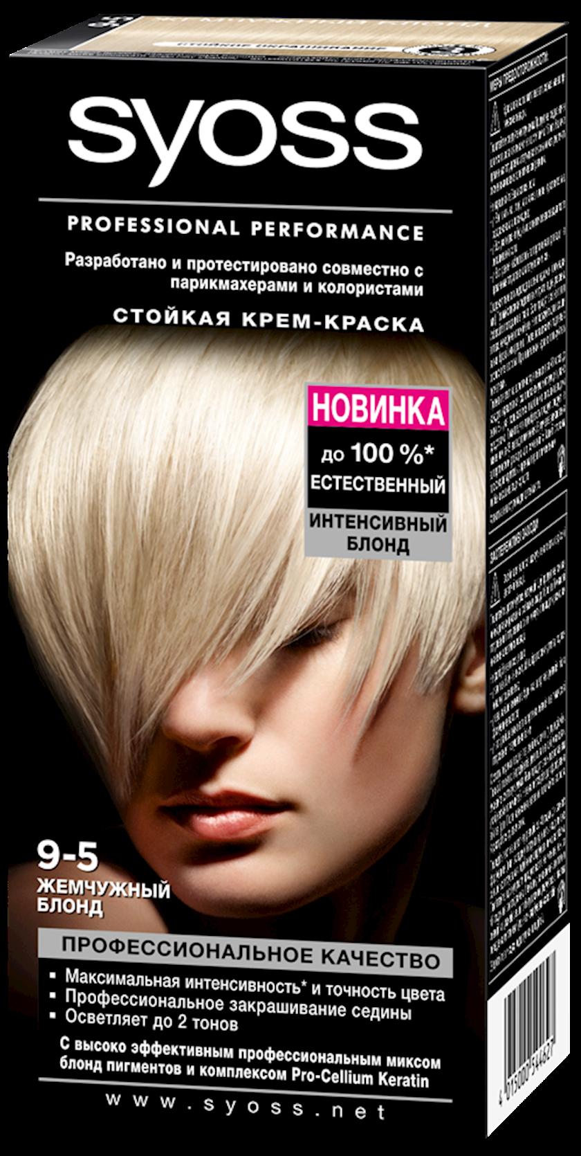 Saç boyası Syoss 9-5 Mirvari sarışın