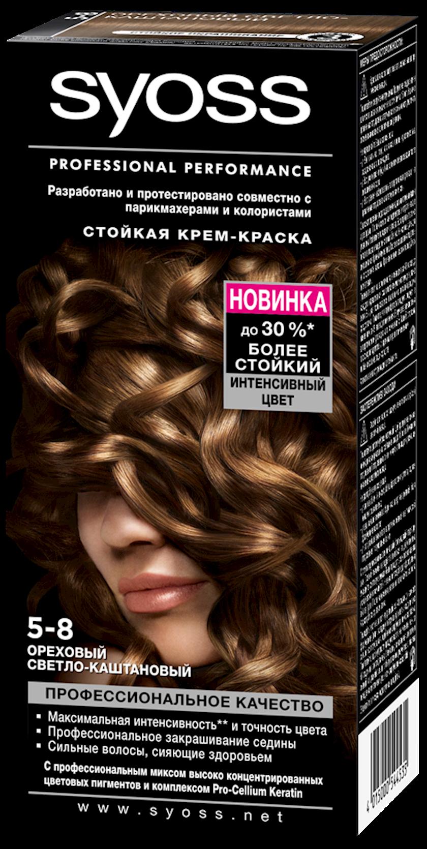 Saç boyası Syoss 5-8 Qoz açıq şabalıdı