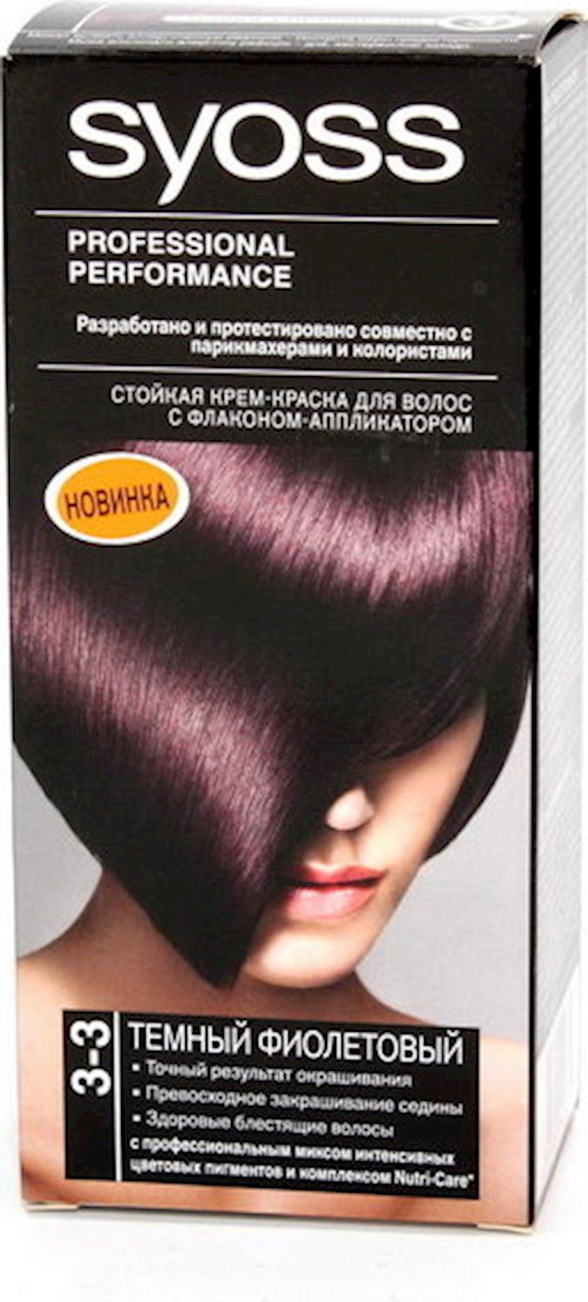 Saç boyası Syoss 3-3 Tünd bənövşəyi