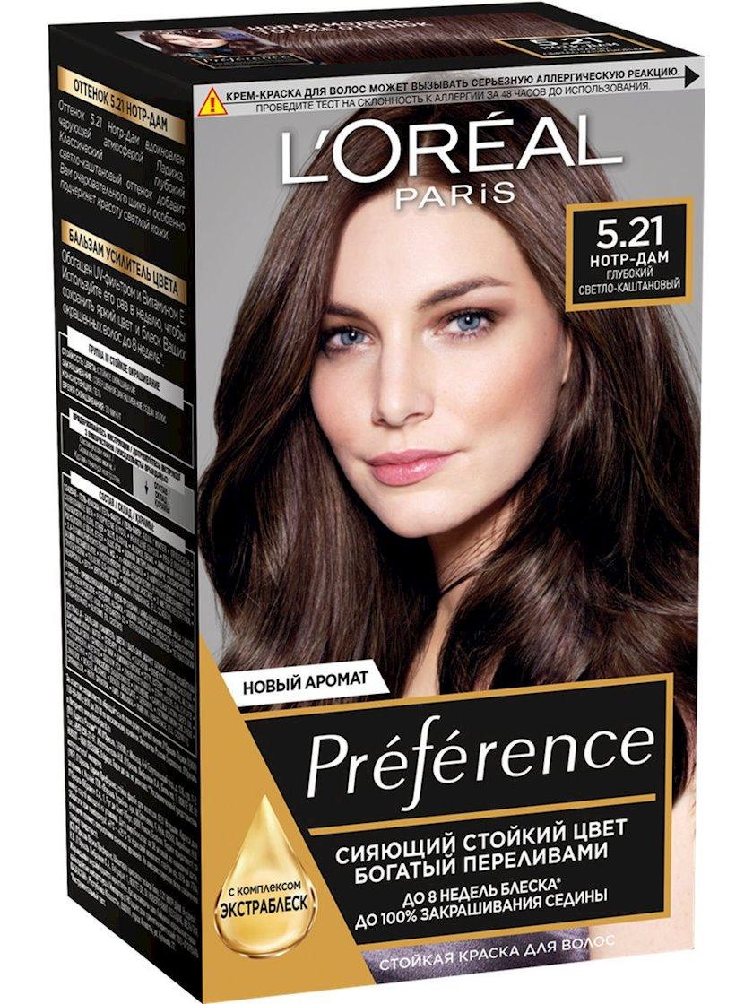 Davamlı krem-boya L'Oréal Paris Preference 5.21 Notr Dam Dərin açıq şabalıdı