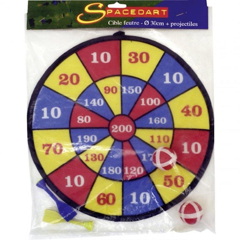 Darts Cible Spacedart Feutre böyüklər üçün, diametr 30 sm