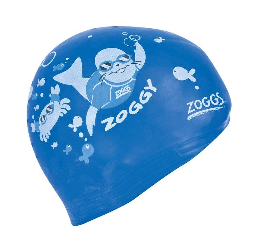 Üzmək üçün papaq Zoggs Kids Aqua Cap, 3 yaşdan 8 yaşadək, lateks, göy