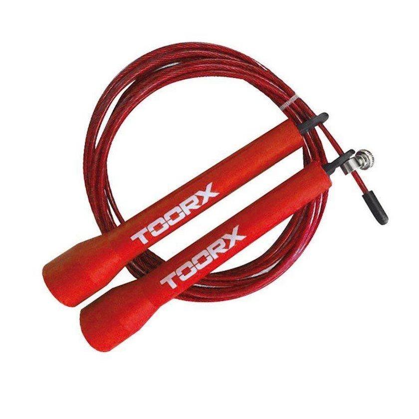 Atlanma ipi Toorx Steel Speed Jump Rope, uniseks, qırmızı
