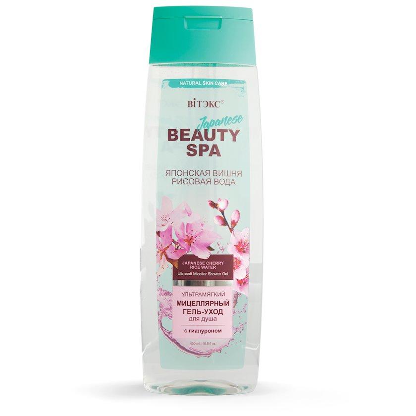Ultra yumşaq misellyar gel-baxım duş üçün Витэкс Beauty Spa Yapon Suyu və Düyü Suyu 400 ml