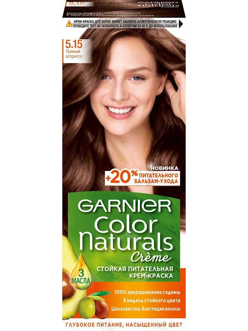 Saç üçün qalıcı krem-boya Garnier Color Naturals 5.15 Əddviyyalı espresso