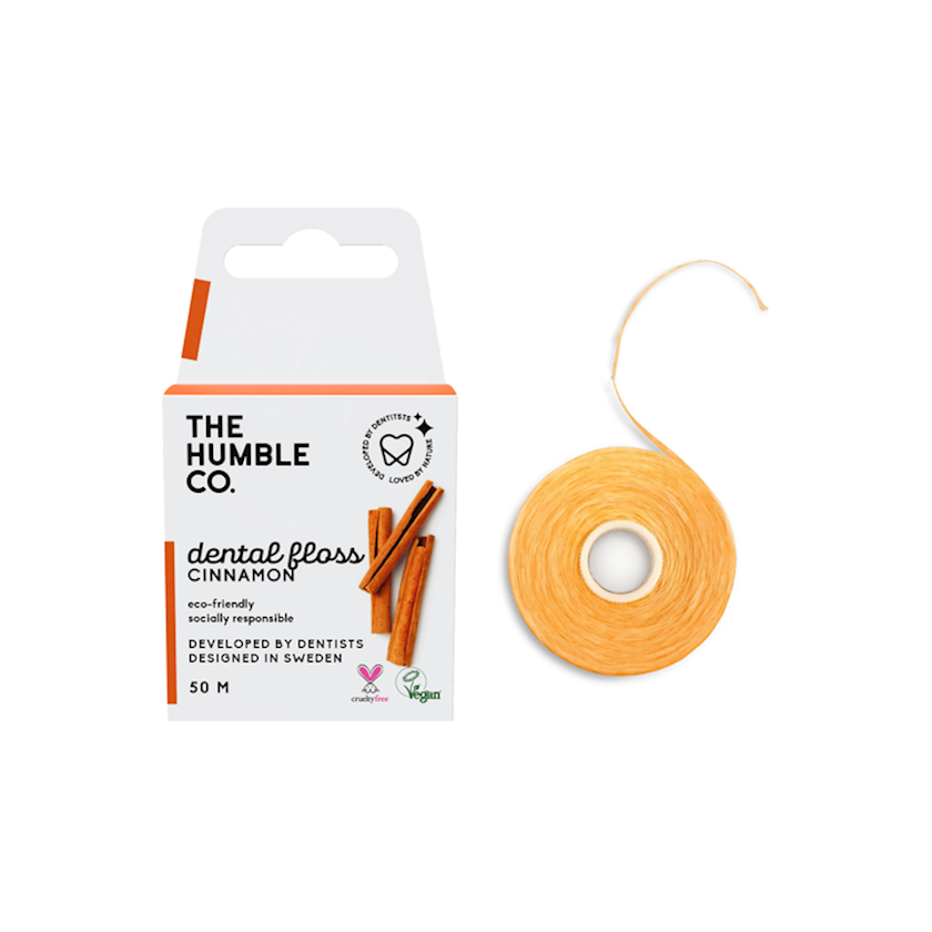 Diş lenti-floss Humble Co, darçın, 50 m