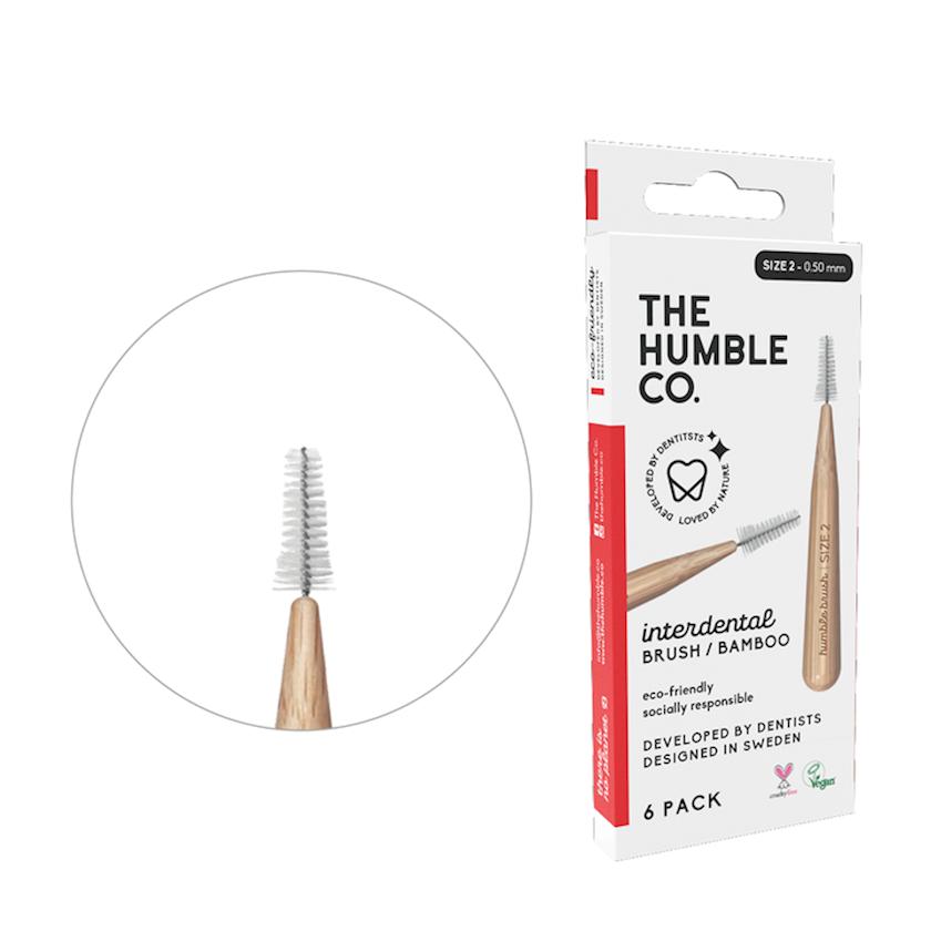 Dişarası bambuk fırçası Humble Co, 0, 5 mm, 6 ədəd