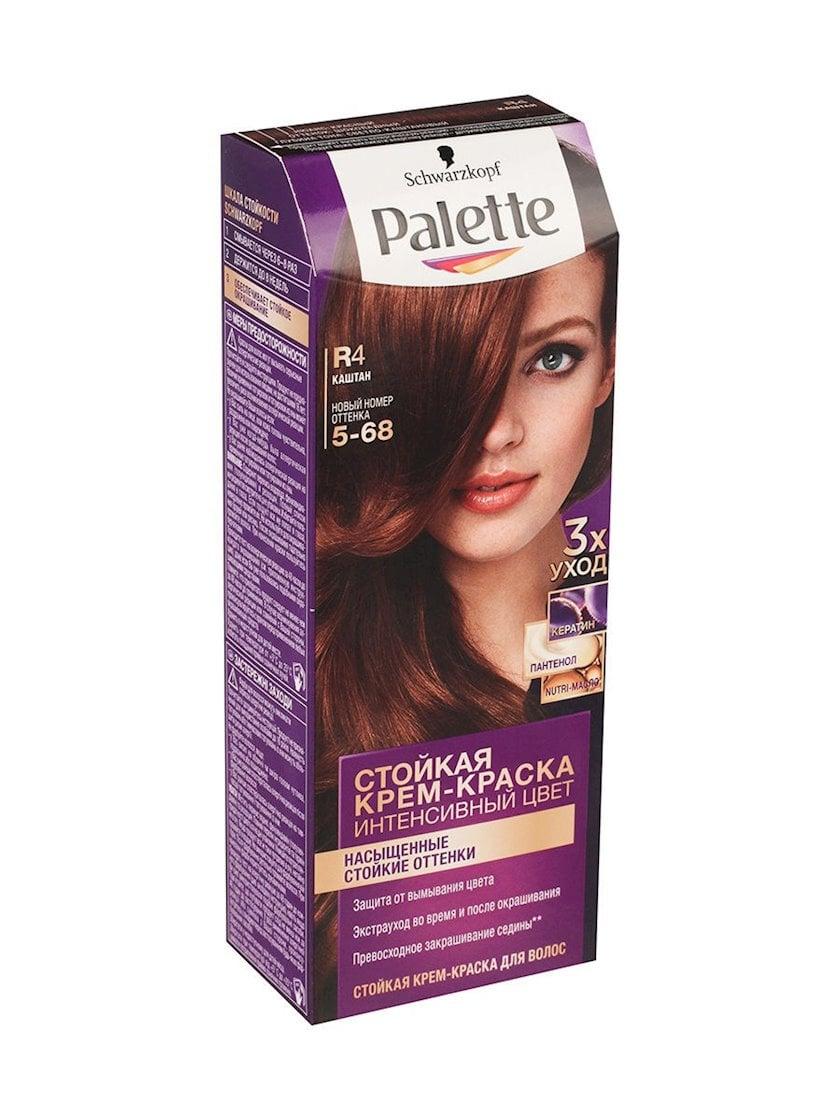 Saç üçün qalıcı krem-boya Palette R4 5-68 Şabalıd