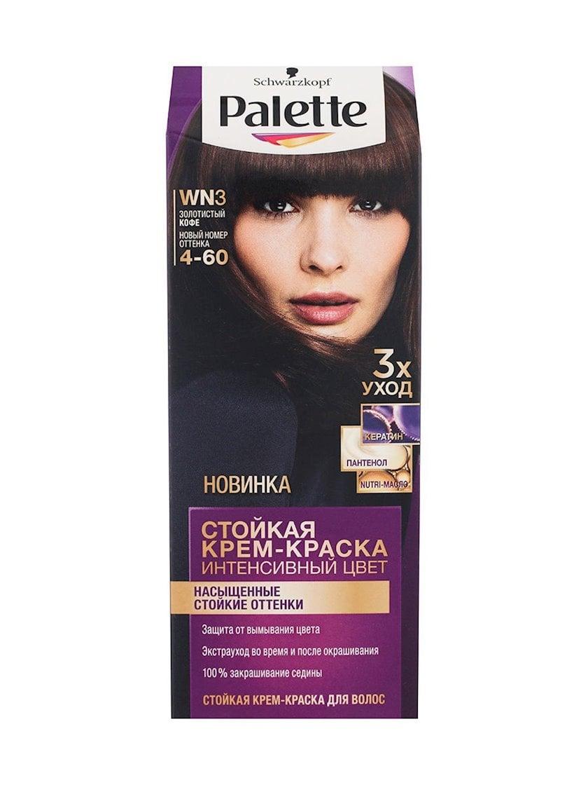 Saç üçün qalıcı krem-boya Palette WN3 4-60 Qızılı qəhvə